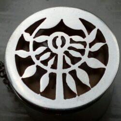 Zilveren canulesieraad met levensboom voor zilveren canule