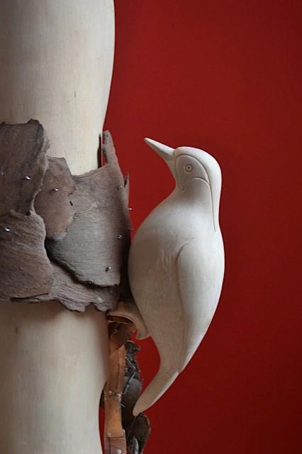 Sculptuur. Titel: Specht.