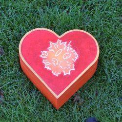 Gedenkdoosje hartvormig