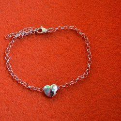 Assieraad hart armband
