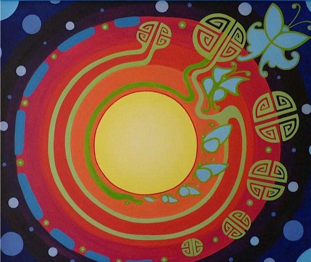 Acryl schilderij, 60x50cm
