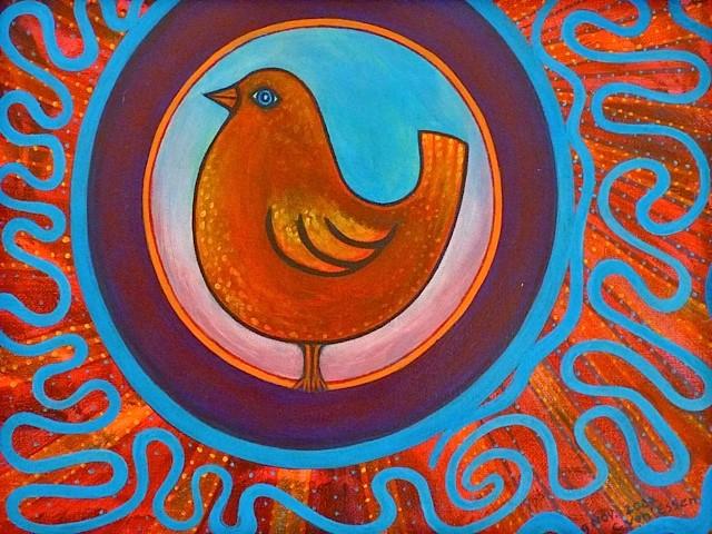 Acryl schilderij 40x30cm