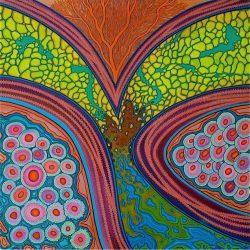 Acryl schilderij 80x80cm