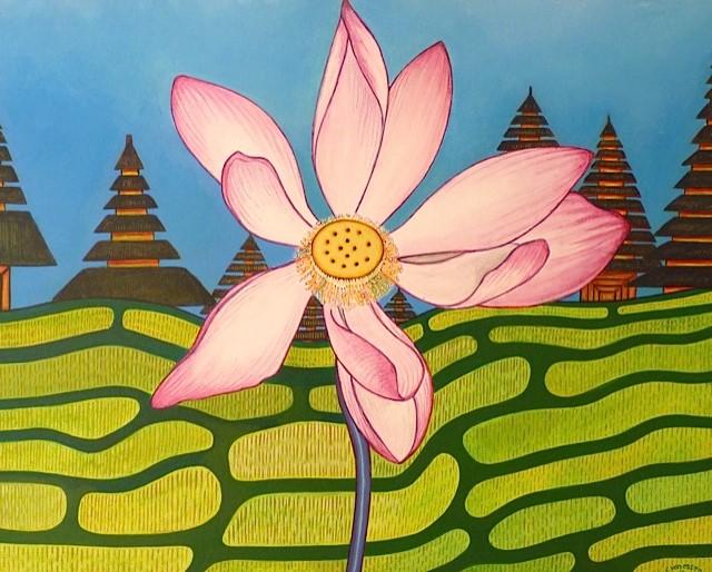 Acryl schilderij 50x40cm