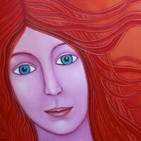 Acryl schilderij 60x60cm