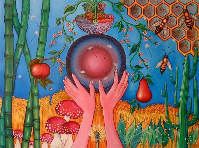 Acryl schilderij, 30x40cm