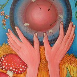 Detail schilderij 'Afscheid'