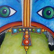 Detail schilderij 'Het zwaard geheven'